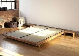 Murray Platform Bed King Platform Bed With Side Tables Floating Murray Table Modern