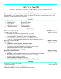 resume format in ms word 2007 microsoft word resume format for administrative coordinator with microsoft word resume format for administrative coordinator with list of highlights