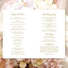 wedding program design template wedding program template elegance chagne wedding template shop