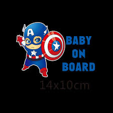 honda car stickers 2017 superheroes baby on board reflective car stickers and decals