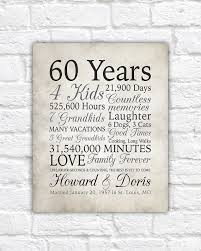 60 year gift ideas 60th anniversary gift 60 years married or any year gift for