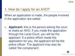 applying for an apprehended violence order avo in nsw