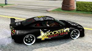 kereta skyline gta san andreas nissan skyline gtr rockstar energy youtube
