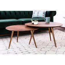 mid modern coffee table maddox mid century modern nesting coffee table set