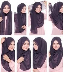 tutorial memakai jilbab paris yang simple it look gorgeous hehe hijab styles pinterest hollywood