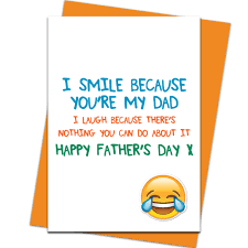 father u0027s day card i smile because you u0027re my dad