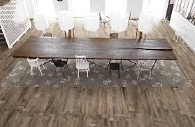 Exotic Laminate Flooring Wood Grain Ceramic Tile Dining Cabinet Hardware Room Rustic