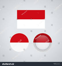 flag design indonesian flag set isolated stock vector 664330282