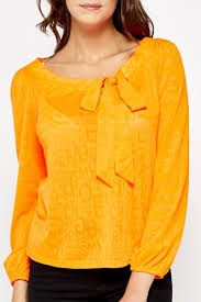 neon blouse neon orange printed blouse just 5