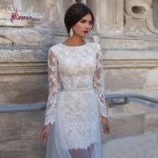 long sleeve short wedding dresses vosoi com
