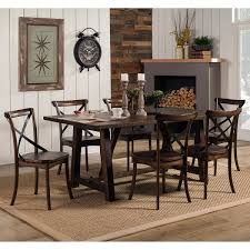 oak trestle dining table alpine furniture 5672 01 arendal trestle rectangular dining table