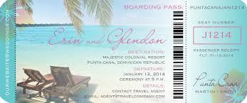 boarding pass ticket invitation for destination wedding