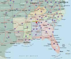 road map of southeast us southeast us map major cities southeast usa wall map mapscom s e