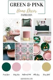 new classic green and pink interior home decor