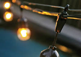 to hang outdoor globe string lights