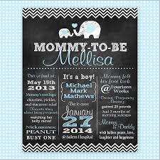 baby shower poster custom chalkboard baby shower poster pregnancy annoucement