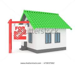 Moving To A New Property by Isolated Model House Sign Sale Sold Stock Illustration 426370789