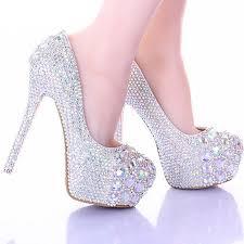 wedding shoes platform luxury sparkly stiletto heel wedding shoes formal