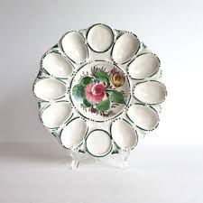 antique deviled egg plate best vintage painted trays products on wanelo