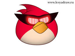 draw angry birds super red bird