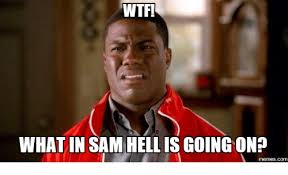 Sam Meme - wtf what in sam hell is going on memescom sam meme on me me