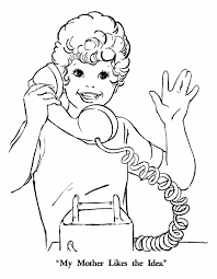 talk phone colouring pages coloring