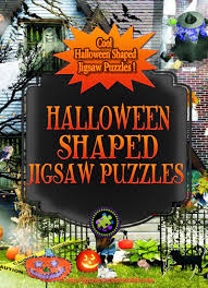 halloween jigsaw puzzle shaped jigsaw puzzles unique shaped puzzles no straight edges