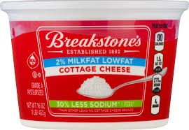 Cottage Cheese Low Fat by Breakstone U0027s Lowfat 30 Less Sodium Cottage Cheese 16 Oz