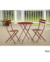 Red Patio Set by Check Out These Scary Good Bargains On Cosco 3 Piece Folding