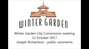 12 oct 2017 winter garden city commission meeting youtube