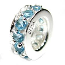 european bead bracelet charms images Sterling silver round ring aquamarine cz crystals jpg