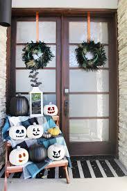 Outside Halloween Decorations Seasonal Style Front Porch Halloween Decorations Blue I Style