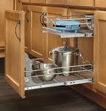 kitchen cabinet organizer pull out sliding metal pot storage 2
