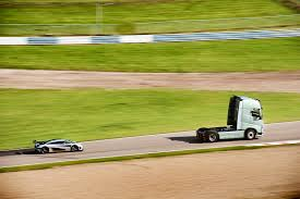 koenigsegg brunei volvo fh takes on one of the world u0027s fastest sports cars u2013 a