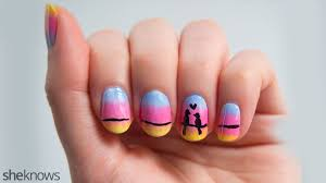 cute love birds nail design is perfect for valentine u0027s day