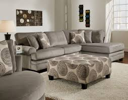 Cream Velvet Sofa Gray Velvet Sofa With L Shaped Combined With Cream White Cushions