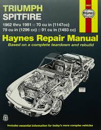 triumph spitfire 1962 1981 john haynes 0038345001130 books