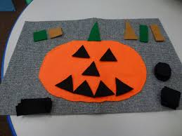 felt jack o lantern with shapes choices for children
