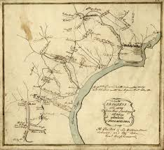 Philadelphia America Map by Valley Forge