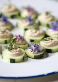 cucumber canapes cucumber slices with smoky sunflower seed pâté kitchen treaty
