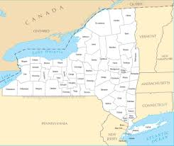 Map New York State by A Large Detailed New York State County Map