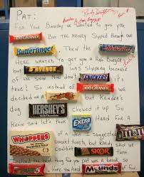 Birthday Card With Bars Birthday Card Made Out Of Candy Bars Alanarasbach Com