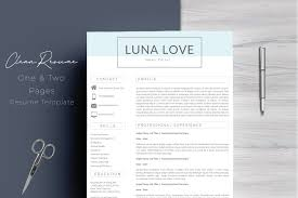 pages resume template clean resume template 4 pages resume templates creative market pro
