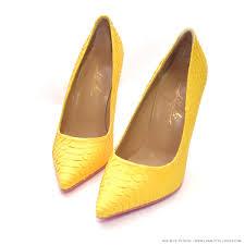 noa yellow python charlotte luxury shoes luxury high heel