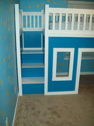 Wooden Loft Bed Diy by Ana White Playhouse Loft Bed With Stairs And Slide Diy Projects