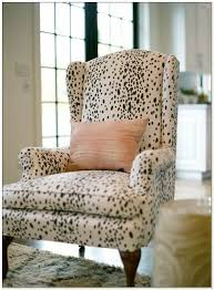 Wing Back Chair Slip Covers Animal Print Wing Chair Covers Chairs Home Decorating Ideas