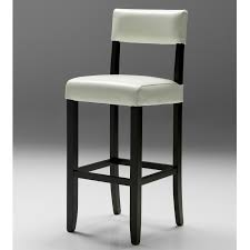 Comfortable Bar Stools With Backs Furniture White Leather Bar Stool With Back And Black Frame The