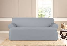 Cotton Duck Sofa Slipcover Sure Fit Heavyweight Cotton Duck One Piece T Cushion Slipcovers