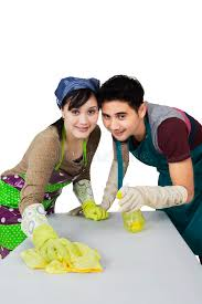 Cleaning Table Stock Images Royalty by Young Couple Cleaning A Table Stock Photography Image 36476272