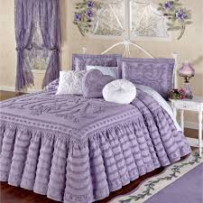 Purple Ruffle Comforter Chenille Bedspreads And Matelasse Bedding Touch Of Class